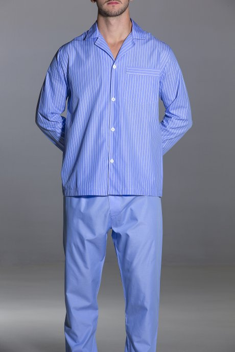 Pajamas stripe light blue